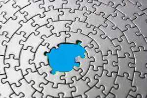 Puzzle blu